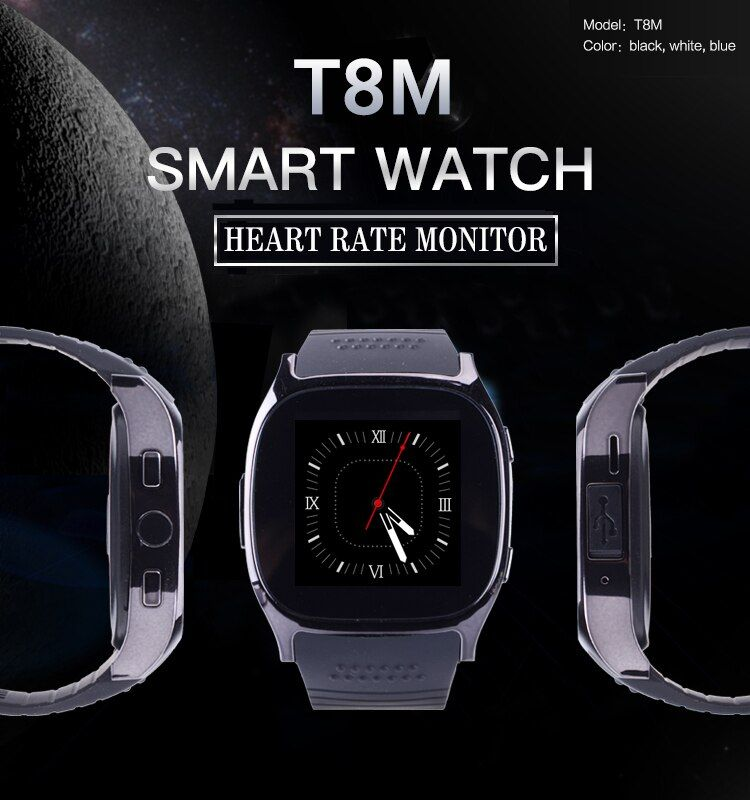 Sport Smart Watch T8M with Heart Rate Tracker Passometer Bluetooth Watch For Android&ios Phone Upgraded version M26 PK Y1 GT08