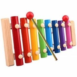 Anak Anak 8 tone Kebijaksanaan Gambang Mainan Musik Hadiah Kayu Colorful Awal Pengembangan Pendidikan drum sticks