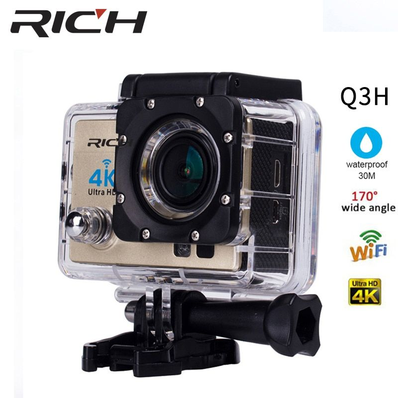 RICH 4K Action Camera SJ Original 8000 R Remote WiFi 2.0 LCD 170D Len Helmet Cam Underwater go Waterproof pro Camcorder 1080P