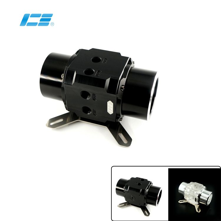 White Black IceMan Cooler produced - double Dual D5 Water Pump Series EVO compatible 12CM fan hole position with armor plate