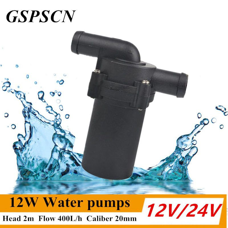GSPSCN 12V 24V 12W Car Water Pumps Automatic Strengthen A/C Heating Accelerate Water Circulation Pump Winter Auto Heat A/C Temp