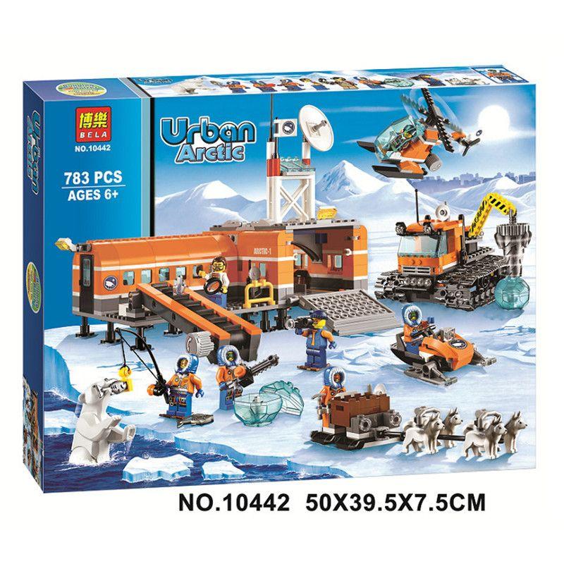 D'origine BELA 10442 Ville blocs Brique Base Arctique Camp 60036 Modèle de Blocs de construction Jouets Pour Enfants Compatible Legoed