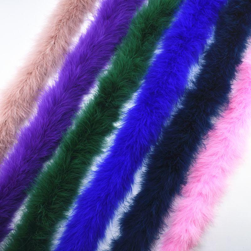2 meter/los Fluffy Türkei Federn Boa über 50g Marabou Schwarz Weiß Feder für Handwerk Boas Streifen Karneval Kostüm Plumes plumas