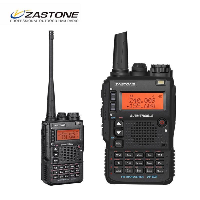 Zastone UV-8DR Mini Radio Walkie Talkie VHF 136-174MHz UHF 400-520MHz CB Ham Radio 128 Channel Two Way Radio Comunicador telsiz