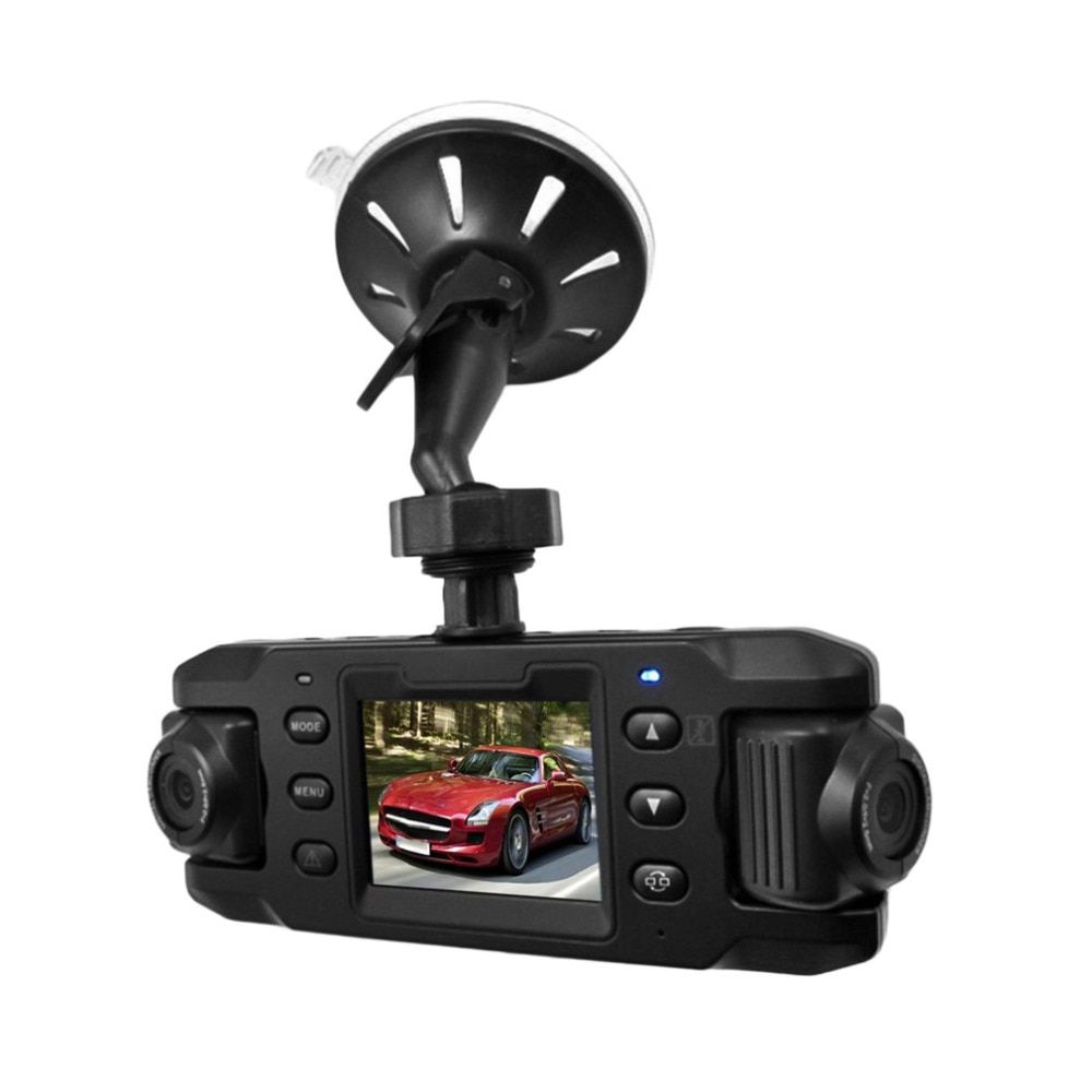 New RH-X9 720P HD 2.31 inch LED Screen Vehicle Car DVR Data Recorder Dual Camera With Tracking Record Seamless Recording Hot