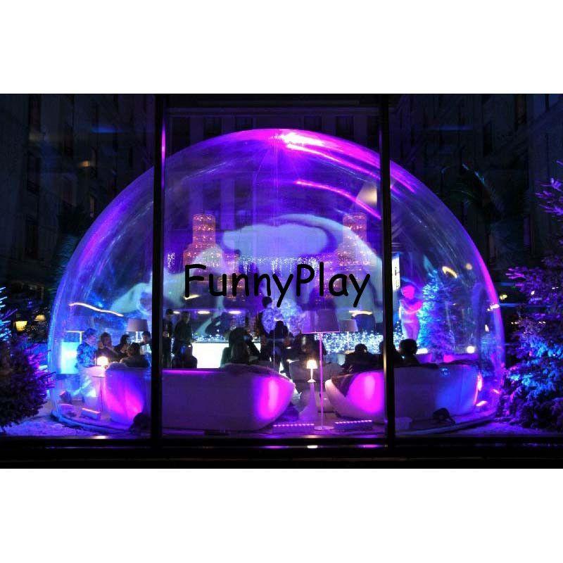 Aufblasbare transparent bubble zelt, PVC Aufblasbare Blase Yard Zelt Freien Aufblasbaren Zelt Mit 1 Tunnel Familie Hinterhof