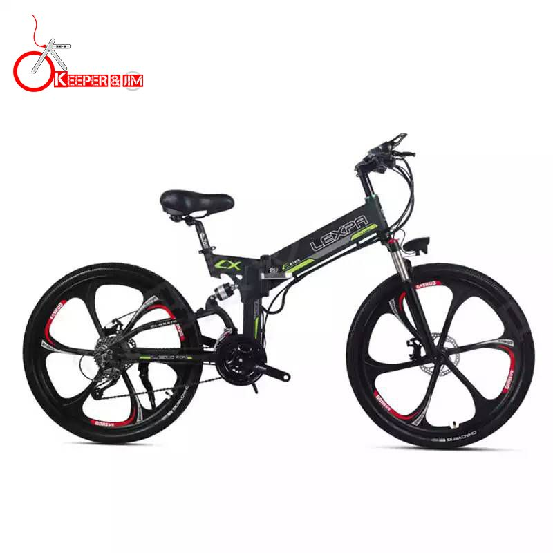 26 zoll elektro mountainbike 48V400W high speed motor Leichte rahmen versteckte lithium-batterie elektrische ebike