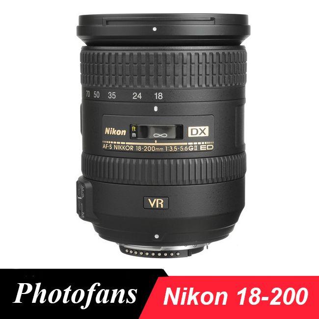 Nikon 18-200 lens Nikkor AF-S DX 18-200mm f/3.5-5.6G ED VR II Lenses for Nikon D3100 D3200 D3300 D5500 D5300 D90 D7200 D7100