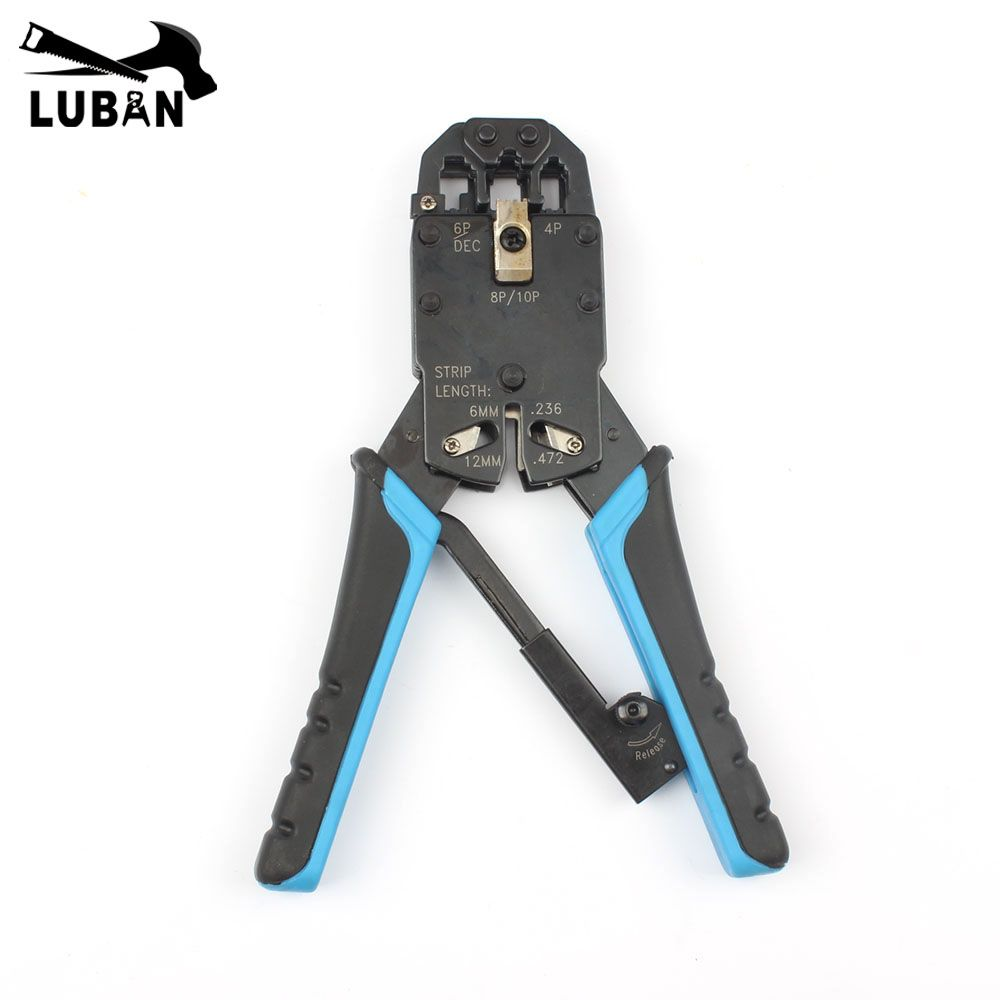 Multifunctional TL-200R ethernet cable modular crimping pliers strippers RJ45 10p10c 8P8C 6P4C 8