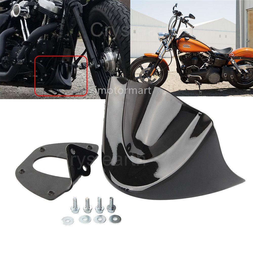 Motorcycle Front Chin Spoiler Air Dam Fairing Cover Mudguard Air Dam Fairing For Harley Dyna Street Bob 2006-2016 2013 2014 2015