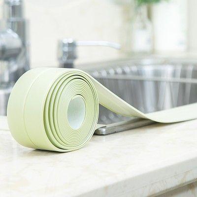 1 rouleau PVC Moisissure Étanche Bande Coin Coutures Cuisine Toilettes D'étanchéité Bande Poêle Joint Protecteurs Évier Fente Papier Peint 2267WS