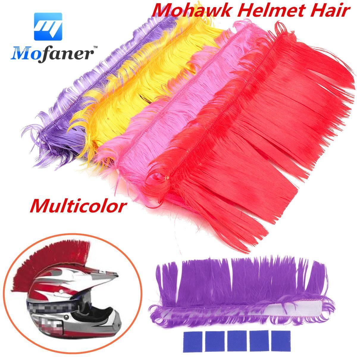 Mofaner Motorbike Helmet Mohawk Hair Punk Hair For Motorcycle Helmets Ski Snowboard Paintball Race