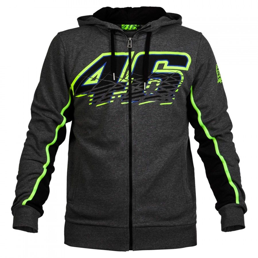 Valentino Rossi VR46 Hoodies Sweatshirts MotoGP Hoodies Motorcycle Casual Winter Sports Jacket Men's Zip-up Hoody