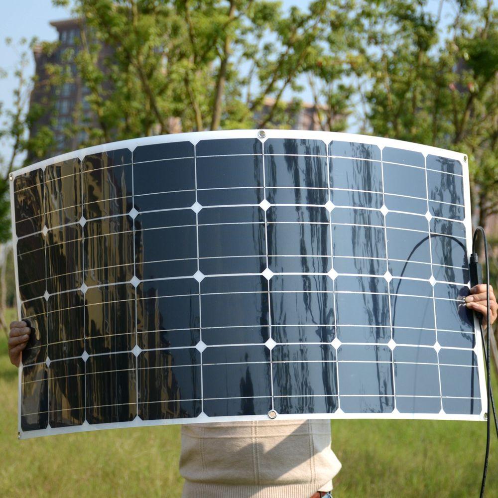 SUCHWORK 20 V 100 W Flexible Solar Panel 36 stücke Solar Zellen Wohnmobile Boote Dach 12 V Batterie Ladegerät 100 w Solar Modul