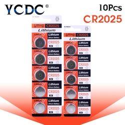 10 pcs/pack CR2025 Lithium Pile Bouton DL2025 BR2025 KCR2025 Pile 3 V CR 2025 Pour Montre Électronique Jouet à distance
