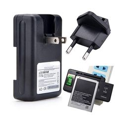 US + EU Plug Universal Battery Charger With USB Port Output for Mobile Phone