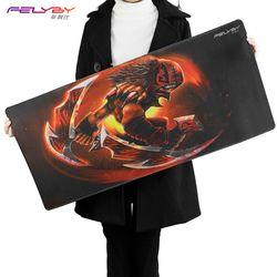 Felyby Tebal Nyaman Alami Karet Tahan Air Keyboard/Mouse Pad Laptop Mouse Mat Gaming CS Gaming Mouse Pad untuk Dote2