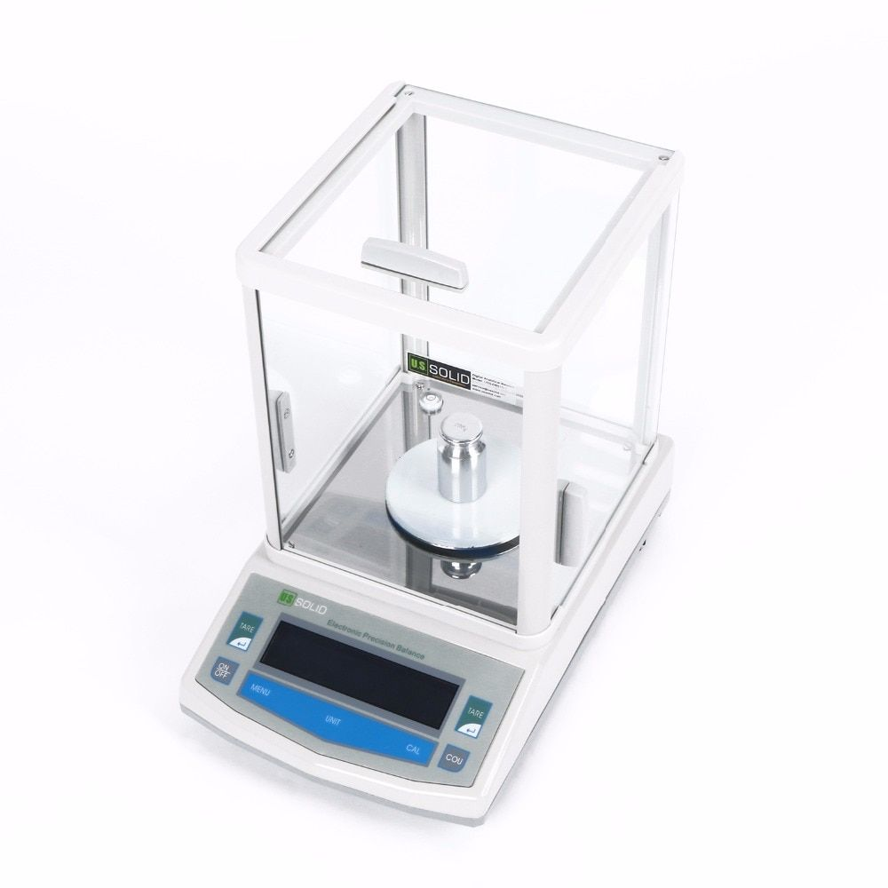 200 x 0.001g 1mg Lab Analytical Balance Digital Precision Electronic Scale CE Certificate 110V/220-240V U.S. Solid