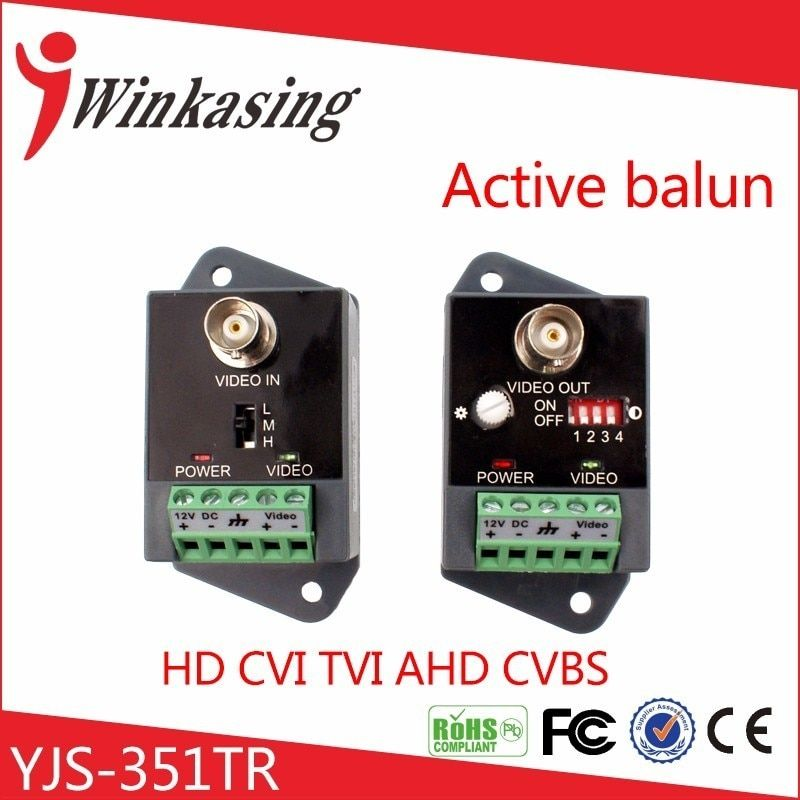 Up to 2400m single channel receive and transmit active video balun