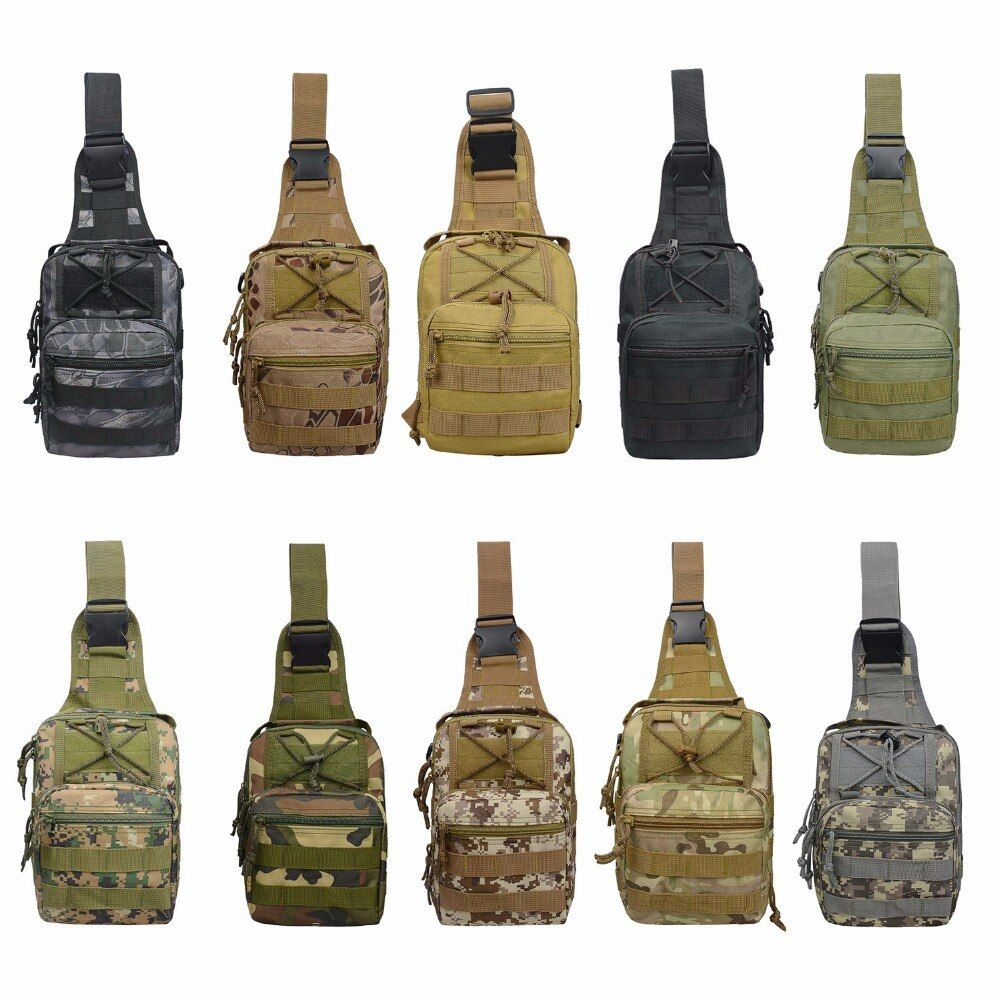 Basic Men Nylon Military Tactical Bag Cross Shoulder Bags for Outdoor Hiking Camping Travel 600D Oxford Fabric