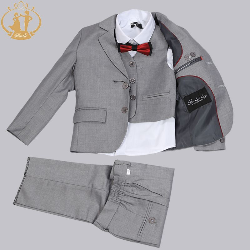 Nimble suit for boy Single Breasted boys suits for weddings costume enfant garcon mariage boys blazer jogging garcon 3pcs/set