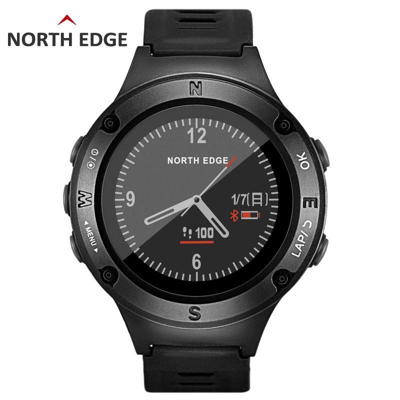 NORTH RAND Männer Sport GPS Bluetooth Höhenmesser Barometer Kompass Thermometer Uhren Pulsmesser Schrittzähler Digitaluhr