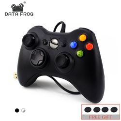 DATA FROG USB Wired Gamepad For Xbox 360 Controller Joystick For Official Microsoft PC Controller For Windows 7 8 10