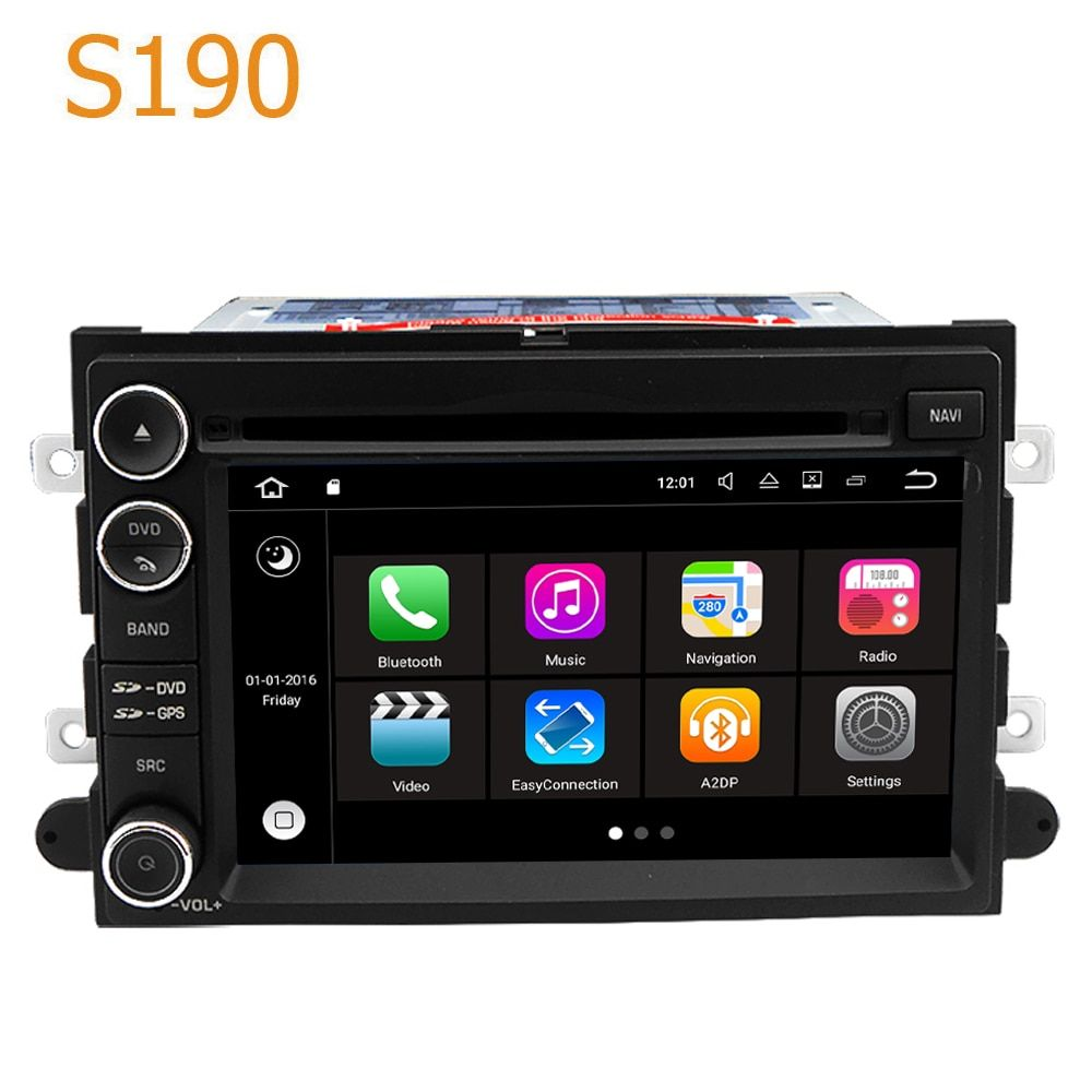 Road Top Winca S190 Android 7.1 System PX3 Car GPS DVD Player Radio Navigation for Ford Edge Expedition Fusion Mustang 2007-2009