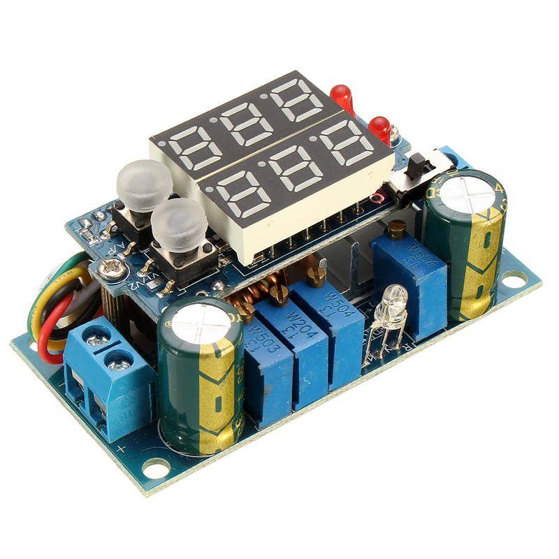 New Electric Solar Panel Controller 5A DC-DC Step-down CC/CV Charging Module Display LED 60 x 31 x 22 mm Board Module