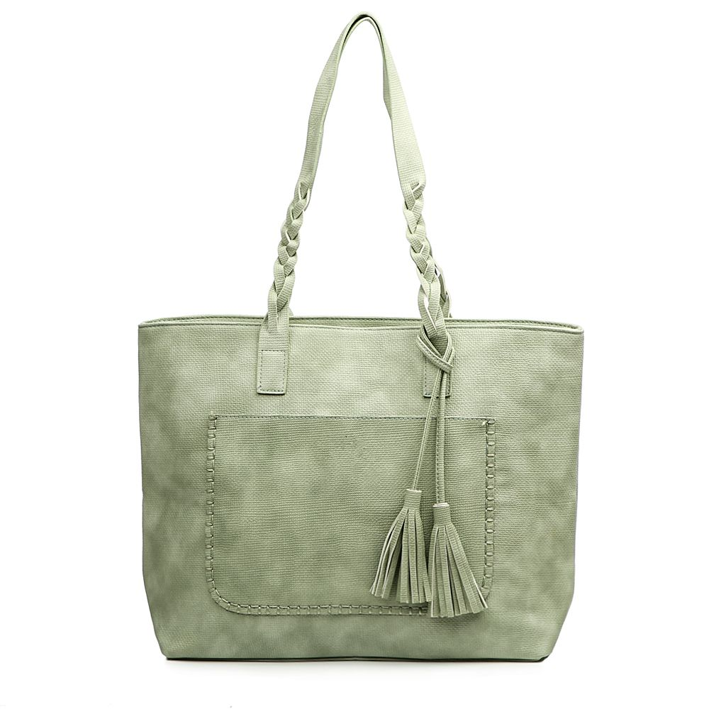 High Quality Tassel Leather Handbags Vintage Women Bags Causal Large Totes Trapeze Designer Shoulder Bags Female sac a main L962