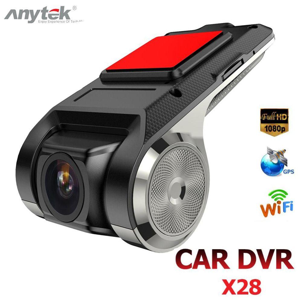 Anytek X28 Mini voiture DVR caméra Full HD 1080 P Auto enregistreur vidéo numérique DVRs ADAS caméscope g-sensor Dash Cam Wifi GPS Dashcam