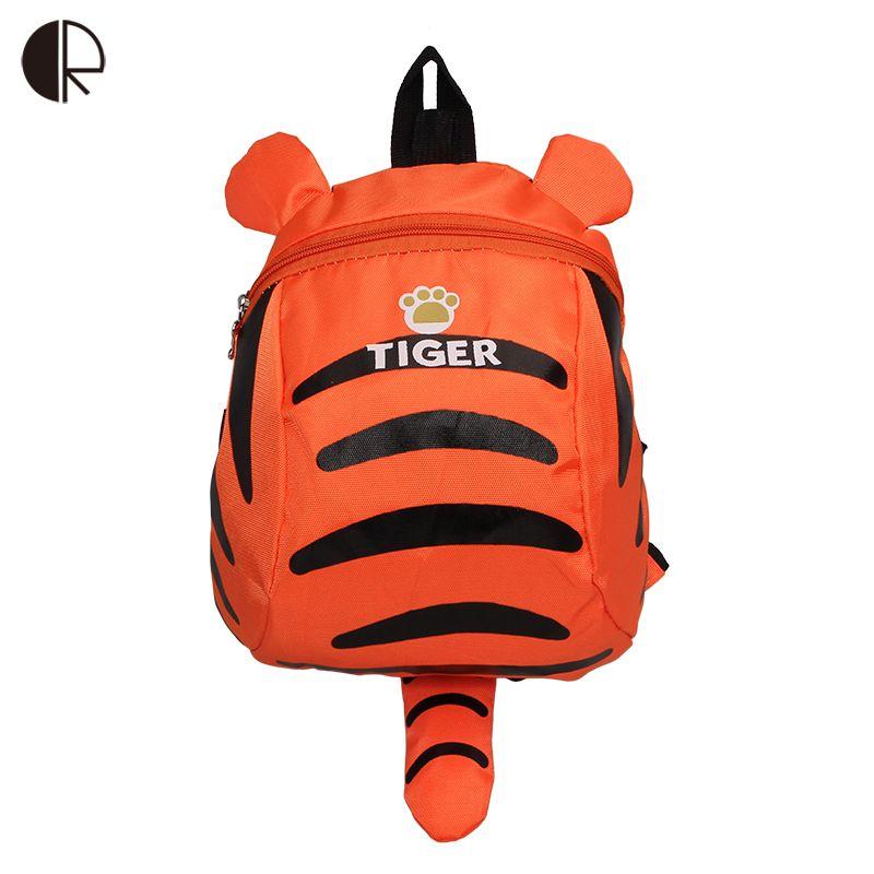 Tiger Backpack for Toddler Boys and Girls Children Travelling bag Kindergarten Schoolbag Cartoon Aminal Anti-lost Backpack