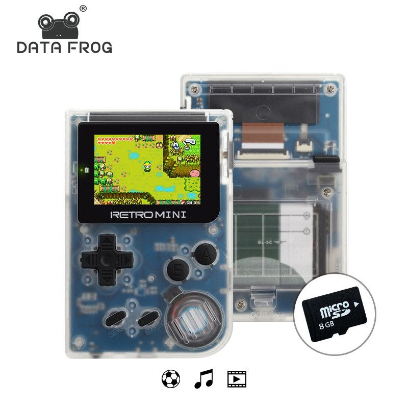 Data Frog Video Game <font><b>Mini</b></font> Console Pocket Portable 2.0 Inch Handheld 32bit Classic Games Best Gift For Child And Nostalgic Player