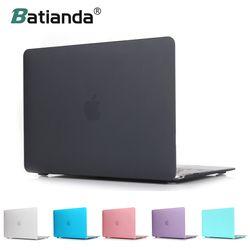 Nuevo cristal duro mate cubierta helada del caso de la manga para MacBook Air 11 A1465/aire 13 pulgadas A1466 pro 13,3 15 A1278 retina 13 A1502