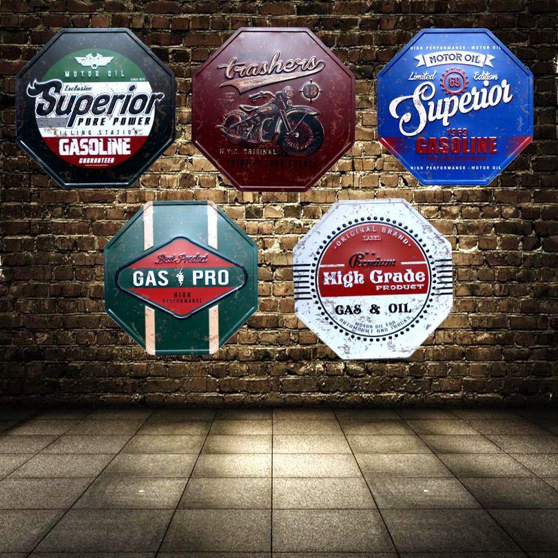 Plaque métal Vintage signes irréguliers Shabby Chic panneau publicitaire mur Pub café Restaurant maison Art décor 32 CM U-4