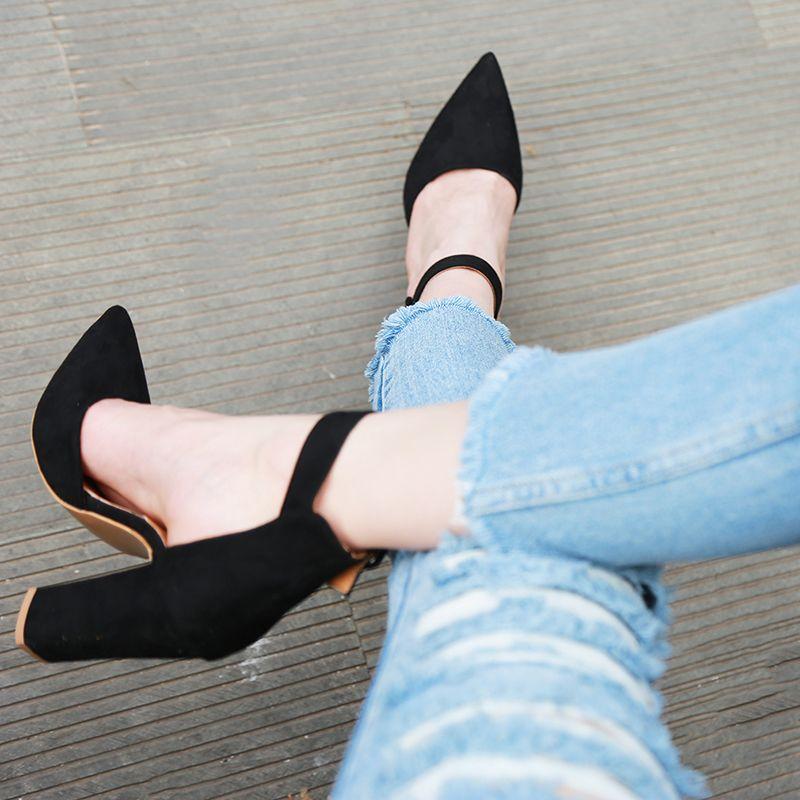 2018 Sexy classique talons hauts femmes sandales chaussures d'été dames pompes à lanières plate-forme talons femme cheville sangle chaussures