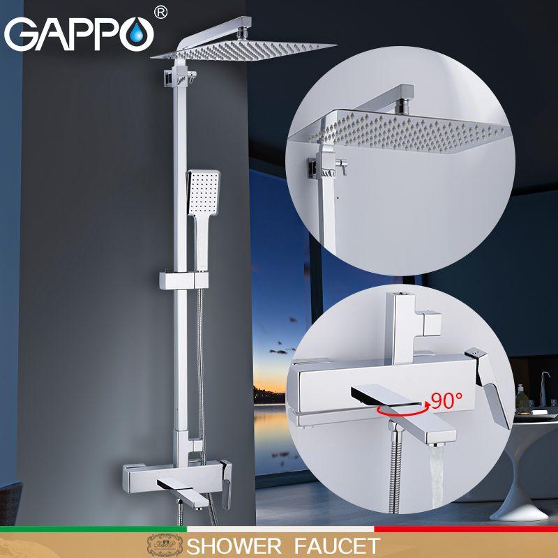 GAPPO dusche Wasserhahn wand mounter messing dusche griferia bad regen dusche set dusche köpfe wasserfall armaturen