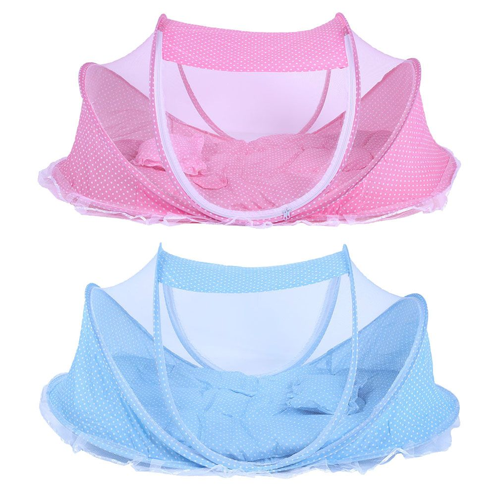 3pcs/Set Baby Bedding Crib Netting Folding Baby Mosquito Nets Bed Mattress Pillow Portable Bed Collapsible Baby Crib