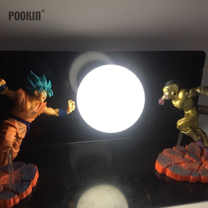 Double Dragon Ball Son Goku And Frieza Bombs Luminaria Led Night Light Holiday Gift Room Decorative Led Lamp In EU US Plug
