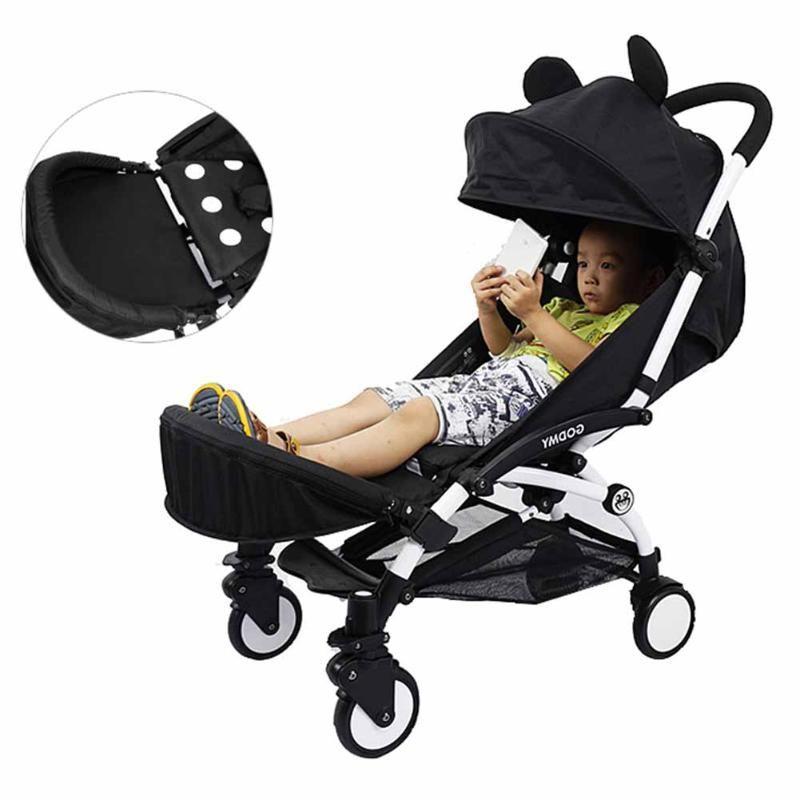 Baby Stroller Extension Foot Support Holder Anti Skid Bumper Bar Kids Updated Pram Accessories Pushchair Extension Footboard
