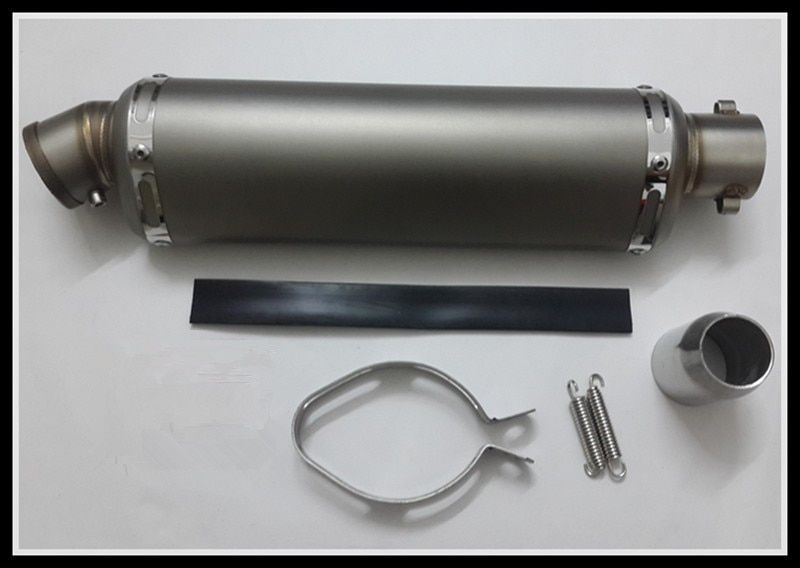 Motorcycle general muffler Small oval exhaust pipe Fit 125-600cc moto