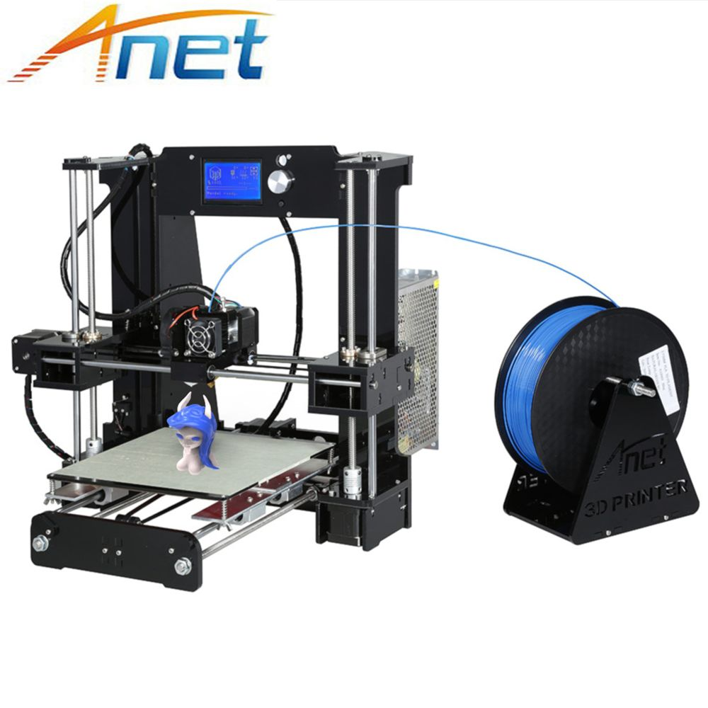 Anet Autolevel A8 A6 3D Printer Large Printing Size Easy Assemble Reprap i3 DIY 3D Printer Kit with Filament 8GB/16G SD Card