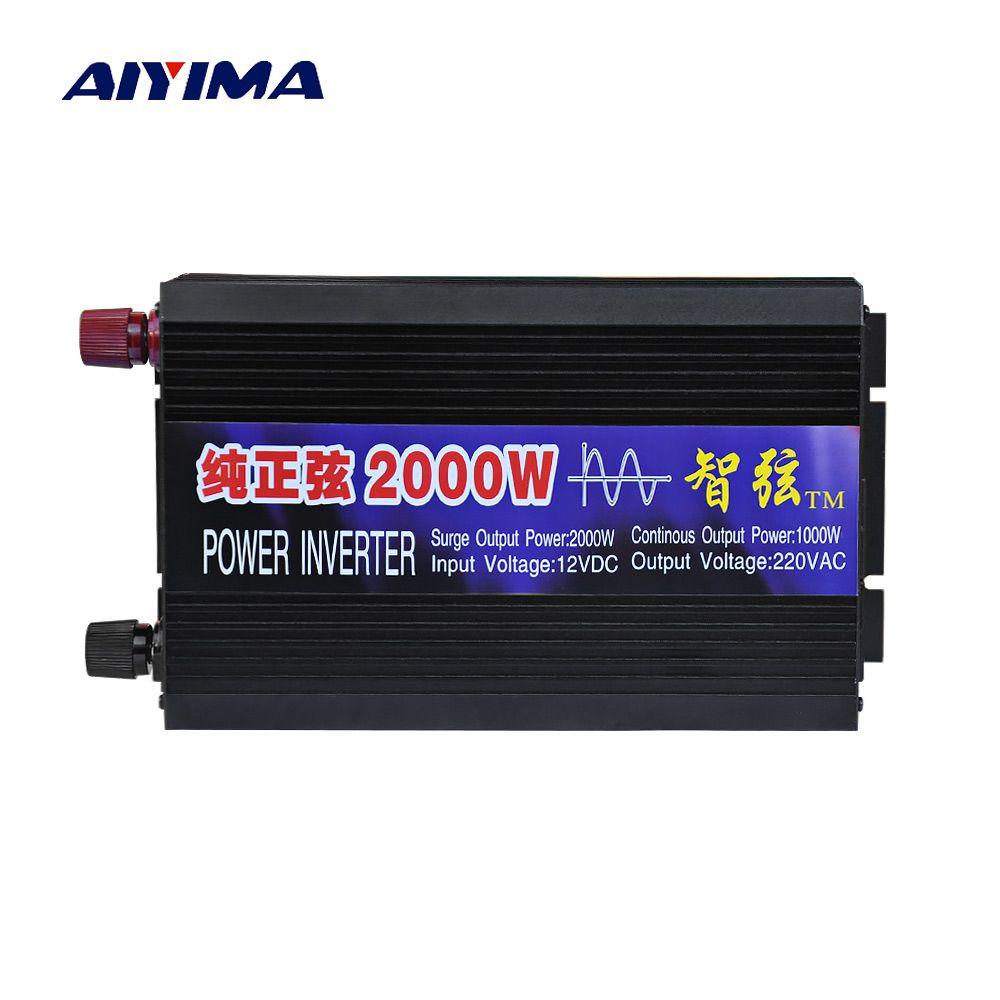 Aiyima Pure Sine Wave Car Power Inverter 2000W 12V/24V/48V To 220V Power Conversion Booster