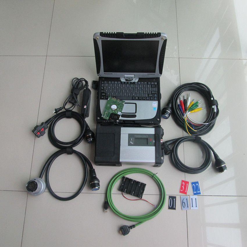 Sd verbinden 5 mb star c5 mit cf19 laptop 2019 neueste software 320 gb hdd diagnose werkzeug für autos und lkw bereit zu verwenden