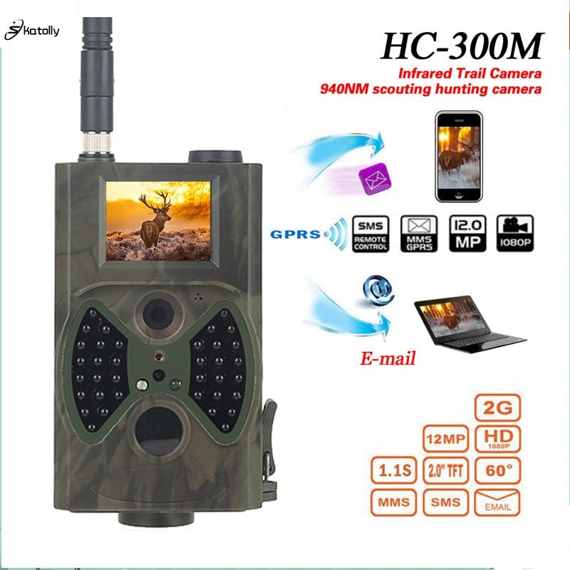 Skatolly HC300M Hunting Camera GSM 12MP 1080P Photo Traps Night Vision Wildlife <font><b>infrared</b></font> Hunting Trail Cameras hunt Chasse scout