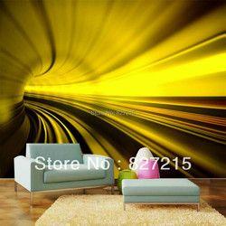 /3D fantasía luz series/Mo-1258/vivid luz del túnel/impresión de azulejos de techo/PVC estirada techo Películas