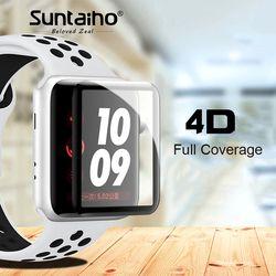 Suntaiho 4D Pleine Couverture Souple Bord Complet gel verre film Pour je Montre 42mm Protecteur D'écran Film pour Apple Montre 38mm Série 1 2 3