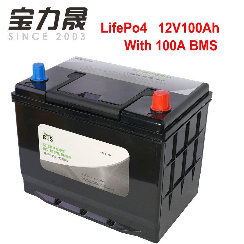 12V100AH LiFePo4 12.8V100ah Lithium-Eisen Phosphat Batterie mit 4S 100A BMS für Fischerboot RV Yacht Party Power Solar UPS