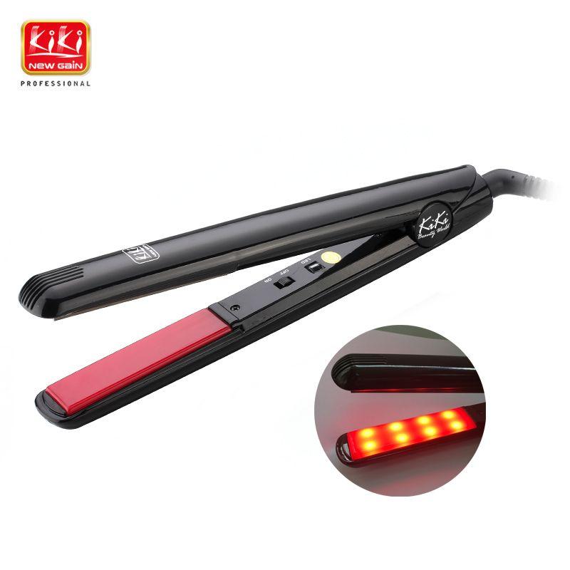 KIKI NEWGAIN Ultrasonic & Infrared Hair Care Iron Recovers the damaged hair Hair Treament Styler Cold Iron Hair Care Treatment