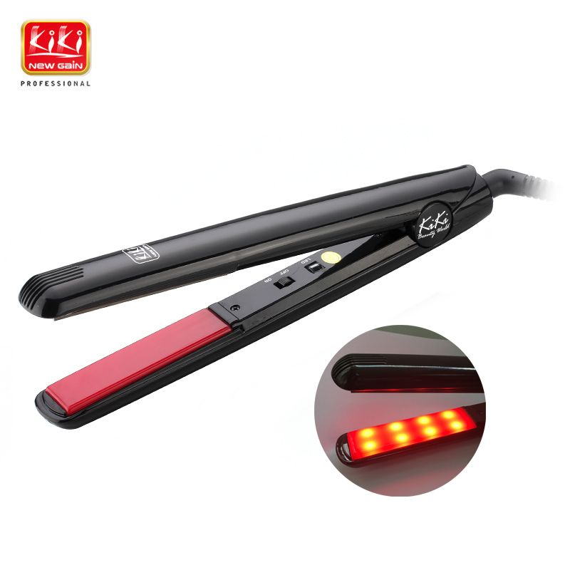 KIKI NEWGAIN Ultrasonic & <font><b>Infrared</b></font> Hair Care Iron Recovers the damaged hair Hair Treament Styler Cold Iron Hair Care Treatment